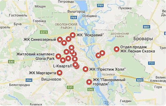 ЖК Киевской области